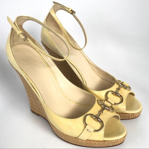 f8e527b400a Gucci Shoes - Gucci Open open peep toe Wedges Horse bit